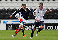 Football - International Under 21 Friendly - Scotland U21 vs. Norway U21<br /> <br /> Scotland vs Norway U21<br /> International Challenge Match, New St Mirren Park, Paisley.<br /> Stuart Armstrong of Scotland competes with  Magnus Wolff Eikrem of Norway<br /> 10th August 2011<br /> <br /> Ian MacNicol/Colorsport