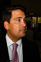Invercargill, New Zealand- April 11, 2019 - Simon Bridges, the leader of New Zealand's opposition National Party, speaks to the Press following a meeting with the chief executive of the Southern Institute of Technology, which is the major tertiary institution in Invercargill. Picture: Giordano Stolley.