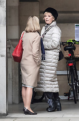 © Licensed to London News Pictures. 12/12/2018. London, UK. Justine Greening (L) is seen talking to Anna Soubry in Parliament after attending Prime Minister's Questions . Prime Minister Theresa May will face a vote of confidence later after 48 letters were received to trigger a vote. Photo credit: Peter Macdiarmid/LNP