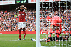 30 July 2017 -  Pre-Season Friendly - Emirates Cup 2017 - Arsenal v Sevilla - Alexandre Lacazette of Arsenal rues a missed chance - Photo: Marc Atkins / Offside.