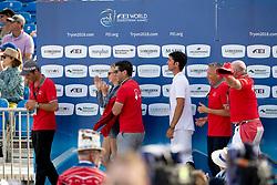 Team Switserland, Werner Muff, Paris Ann Sellon, Andy Kistler, Steve Guerdat<br /> World Equestrian Games - Tryon 2018<br /> © Hippo Foto - Dirk Caremans<br /> 23/09/2018