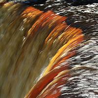 """Liquid Light""<br /> <br /> Tahquamenon Falls in golden amber hues.<br /> <br /> Waterfalls by Rachel Cohen"