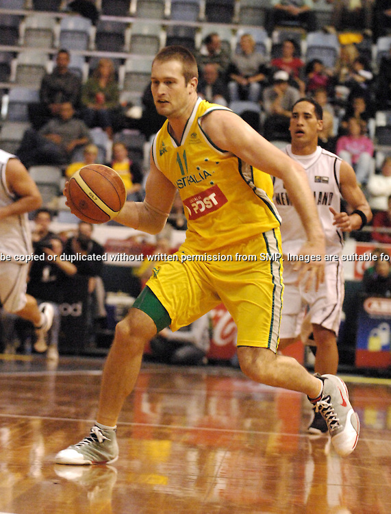 Mark Worthington (Australia) in action during the Ramsay Shield, Australia Post Boomers v New Zealand, Game 2, 2008.  Played at the State Netball & Hockey Centre. Australian Post Boomers defeated New Zealand. .Photo: Joel Strickland / SMP Images.Use information: This image is intended for Editorial use only (e.g. news or commentary, print or electronic). Any commercial or promotional use requires additional clearance.