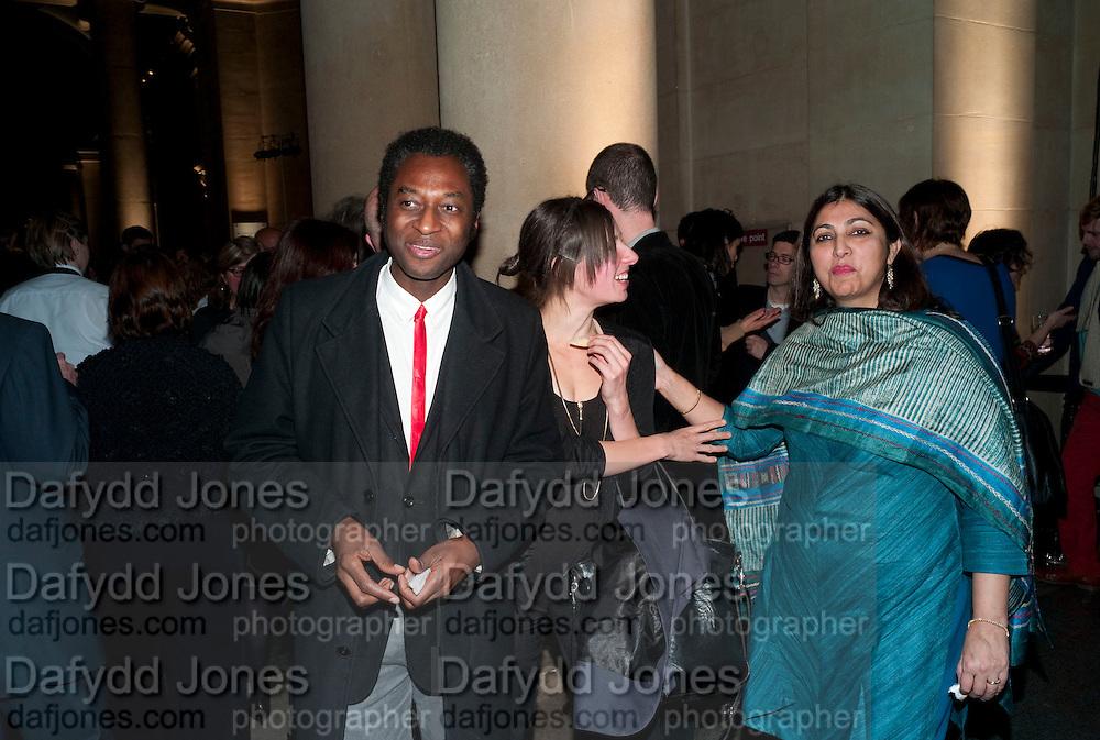 KODWO ESHUN; OTOLITH GROUP, Turner Prize 2010. Tate Britain. Millbank. London. 6 December 2010. -DO NOT ARCHIVE-© Copyright Photograph by Dafydd Jones. 248 Clapham Rd. London SW9 0PZ. Tel 0207 820 0771. www.dafjones.com.
