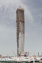 High rise apartment building under construction at Dubai Marina in Dubai United Arab Emirates UAE