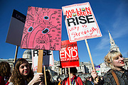 London, UK. Saturday 7th March 2015. Miilion Women Rise march. Million Women Rise (MWR) is a women-only march and rally against male violence against women, held annually in London close to International Women's Day. Thousands of woman from all over the World united together to end all forms of violence, abuse and sexual exploitation.