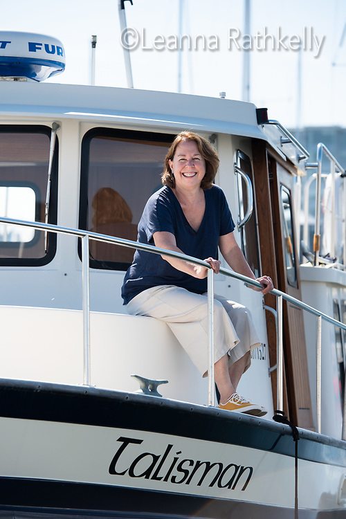 Dr. Laura Arbour is a Canadian expert in rare genetic diseases, particularly among First Nations and Inuit. Photographed for Doctors of BC, Dr. Arbour enjoys time away from research by relaxing on her Nordic Tug boat, Talisman.