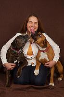 Joanie head shot session and pups.  ©2016 Karen Bobotas Photographer