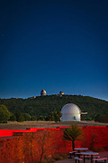 The McDonald Observatory is an astronomical observatory located near the unincorporated community of Fort Davis in Jeff Davis County, Texas, United States. The facility is located on Mount Locke in the Davis Mountains of West Texas, with additional facilities on Mount Fowlkes, approximately 1.3 kilometers (0.81 mi) to the northeast. The observatory is part of the University of Texas at Austin. It is an organized research unit of the College of Natural Sciences.<br /> <br /> The observatory produces StarDate, a daily syndicated radio program consisting of short segments related to astronomy that airs on both National Public Radio and commercial radio stations — about 400 affiliates in all.