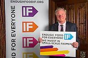 Sir Edward Leigh MP.supporting the Enough Food for Everyone?IF campaign. .MP's and Peers attended the parliamentary launch of the IF campaign in the State Rooms of Speakers House, Palace of Westminster. London, UK.