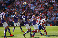 Atletico de Madrid´s Raul Garcia (R) and Espanyol´s Canas during 2014-15 La Liga Atletico de Madrid V Espanyol match at Vicente Calderon stadium in Madrid, Spain. October 19, 2014. (ALTERPHOTOS/Victor Blanco)