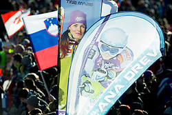 Fans of MAZE Tina (SLO) and DREV Ana (SLO) during the 2nd Run of 5th Ladies' Giant slalom at 51st Golden Fox of Audi FIS Ski World Cup 2014/15, on February 21, 2015 in Pohorje, Maribor, Slovenia. Photo by Vid Ponikvar / Sportida