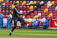 Brentford Forward Ivan Toney (#17) in the warm up ahead of the EFL Sky Bet Championship match between Brentford and Watford at Brentford Community Stadium, Brentford, England on 1 May 2021.