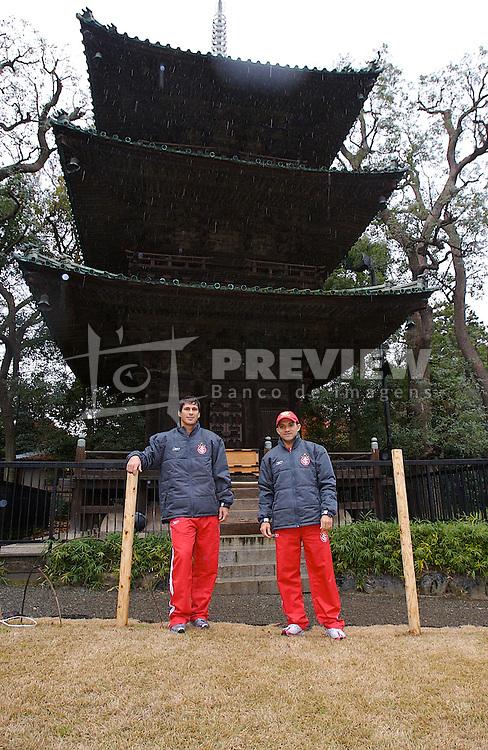Os jogadores do S. C. Internancional, Ceará e Indio visitam o Kitano Odori Gardens, do hotel  Four Seasons, em Tókio. FOTO: Jefferson Bernardes/Preview.com
