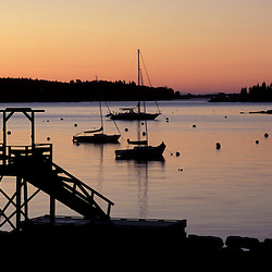 Boothbay Harbor, ME.... Sunrise in Boothbay Harbor.