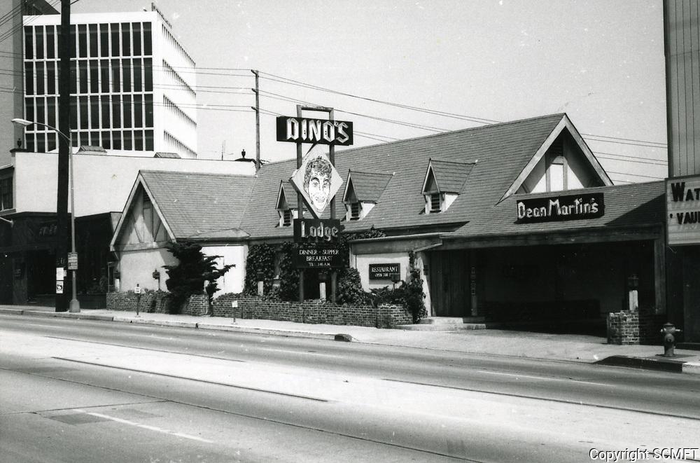 1973 Dino's Lodge on Sunset Blvd.