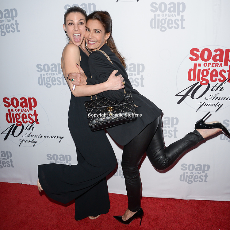 KATE MANSI (L) and KRISTIAN ALFONSO at Soap Opera Digest's 40th Anniversary party at The Argyle Hollywood in Los Angeles, California