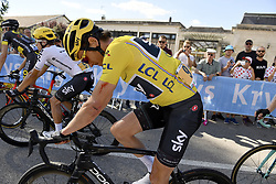July 4, 2017 - Mondorf Les Bains / Vittel, Luxembourg / France - VITTEL, FRANCE - JULY 4 : THOMAS Geraint (GBR) Rider of Team SKY during stage 4 of the 104th edition of the 2017 Tour de France cycling race, a stage of 207.5 kms between Mondorf-Les-Bains and Vittel on July 04, 2017 in Vittel, France, 4/07/2017 (Credit Image: © Panoramic via ZUMA Press)