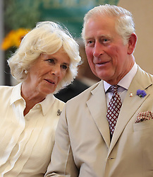 July 4, 2018 - Builth Well, United Kingdom - Image licensed to i-Images Picture Agency. 04/07/2018. Builth Wells, Wales, United Kingdom. The Prince of Wales and the Duchess of Cornwall at the reopening of the newly renovated Strand Hall in Builth Wells, Wales, United Kingdom. (Credit Image: © Pool/i-Images via ZUMA Press)