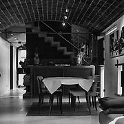 Paris, France, 2004: Dinning area, Jaoul house (1952) at 82 bis, rue de Longchamp - Le Corbusier arch - . Photographs by Alejandro Sala,  (Historical archivi AS)