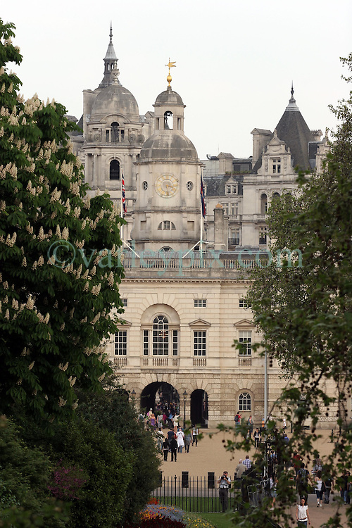 21 April 2011. London, England..A view of Horse Guards Parade, part of the Royal wedding route where the procession will pass through en route to Buckingham Palace in the run up to Catherine Middleton's marriage to Prince William..Photo; Charlie Varley.