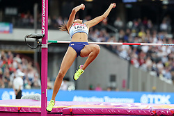 London, August 12 2017 . Morgan Lake, Great Britain, the women's high jump final on day nine of the IAAF London 2017 world Championships at the London Stadium. © Paul Davey.