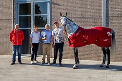 Leandro VG, Van Gorp Alois, Frans Bruynen<br /> Elite hengst BWP<br /> Stal Het Netehof - Sint Kathelijne Waver 2021<br /> © Hippo Foto - Dirk Caremans<br />  01/06/2021