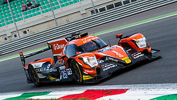 G-DRIVE RACING team with drivers Roman RUSINOV, Andrea PIZZITOLA and J.E. VERGNE won the ELMS 4 hours of Monza 2018. Here during the last laps of the race at Parabolica inside corner.