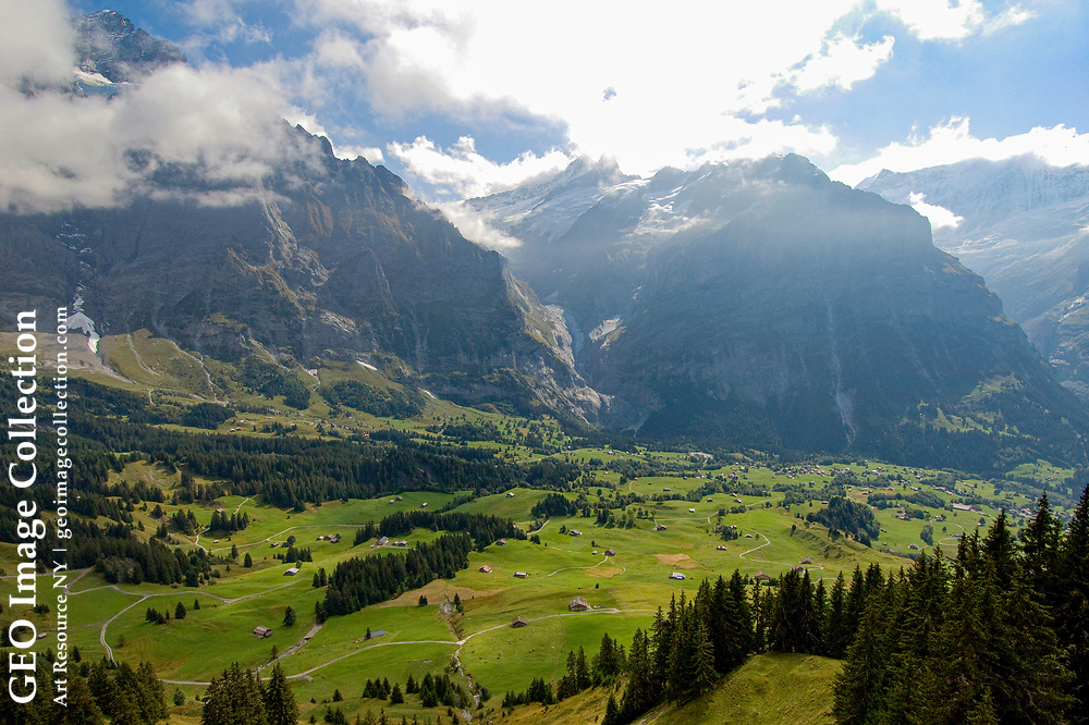 Alpweg meadows above the Grindelwald valley.