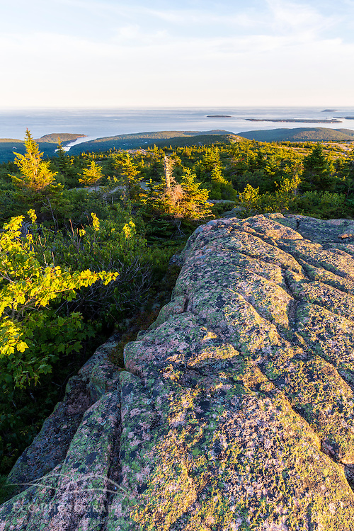 Glacial striations in the grnite on the summit of Cadillac Mountain in Maine's Acadia National Park.