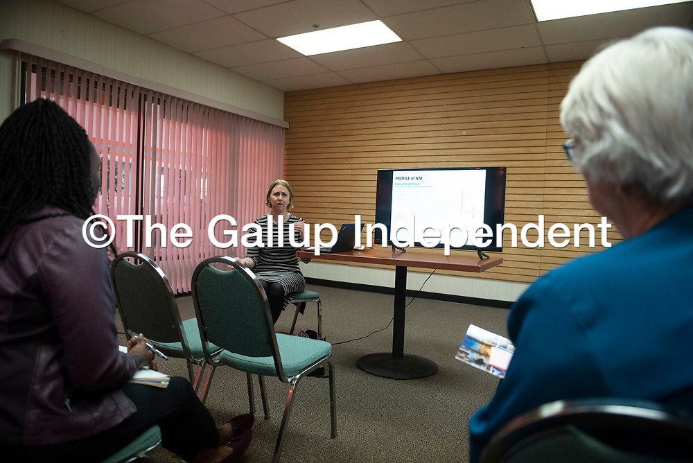 Sonja Unrau with the New Mexico Mortgage Finance Authority holds a session about McKinley County's affordable housing needs Saturday, March 7 during the second annual Gallup Housing Summit at Howard Johnson in Gallup.