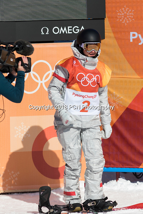 Kelly Clark (USA) competing in the Snowboard Ladies Halfpipe at the Olympic Winter Games PyeongChang 2018