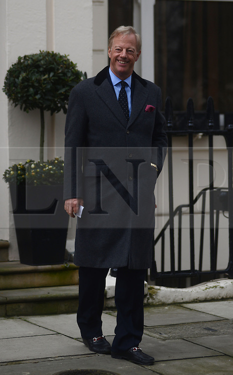 © Licensed to London News Pictures. 11/04/2013. London, UK.  Mark Thatcher, son of former British Prime Minister Margaret Thatcher outside his mothers Chester square house London on 11 April 2013..Photo credit : Peter Kollanyi/LNP