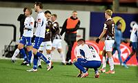Fotball, 10. november  2019 , Eliteserien ,   Mjøndalen - Ranheim 3-1<br /> Ivar Furo og   Ranheim depper etter tap