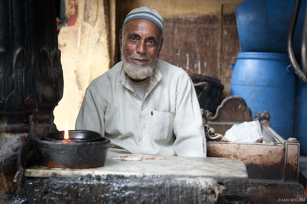 Incense Seller - Old Delhi, India