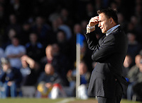 Photo: Ashley Pickering.<br />Southend United v Leeds United. Coca Cola Championship. 17/03/2007.<br />Leeds manager Dennis Wise ponders his fate