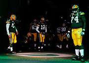 during an NFL football game \a on Monday, Oct. 15, 2018, in Green Bay, Wis. The xx defeated the xx, xx-xx. (Ryan Kang via AP)