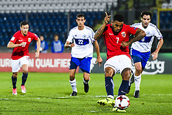 October 5, 2017 - San Marino, SAN MARINO - 171005 Joshua King of Norway scores 2-0 on a penalty kick during the FIFA World Cup Qualifier match between San Marino and Norway on October 5, 2017 in San Marino. .Photo: Fredrik Varfjell / BILDBYRN / kod FV / 150027 (Credit Image: © Fredrik Varfjell/Bildbyran via ZUMA Wire)
