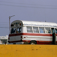 North America, Mexico, Baja California, Ensenada. Local public transportation.