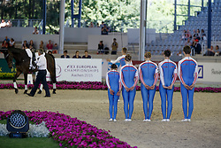 Great Britain Team, Tylers Kernel<br /> Squads Compulsory test<br /> FEI European Championships - Aachen 2015<br /> © Hippo Foto - Dirk Caremans<br /> 20/08/15