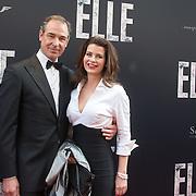 NLD/Amsterdam/20160531 - Première 'Elle', Caroline de Bruijn en partner Erik de Vogel