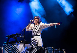 © Licensed to London News Pictures; 03/09/2021; Bristol, UK. ANNA MEREDITH plays the main stage at the Idles on the Downs, where the band Idles will be headlining their Bristol homecoming show. Taking place across three festival-sized stages, the event is a one day festival on the same site on Bristol Downs as Love Saves the Day taking place on Saturday and Sunday. Event organisers Team Love and Simple Things, alongside IDLES, are making available 2,000 complimentary tickets to local NHS workers to say 'thank you' for their amazing work on the frontline of the Covid-19 pandemic.  The festival will also be supporting a range of local community organisations and charities Photo credit: Simon Chapman/LNP.