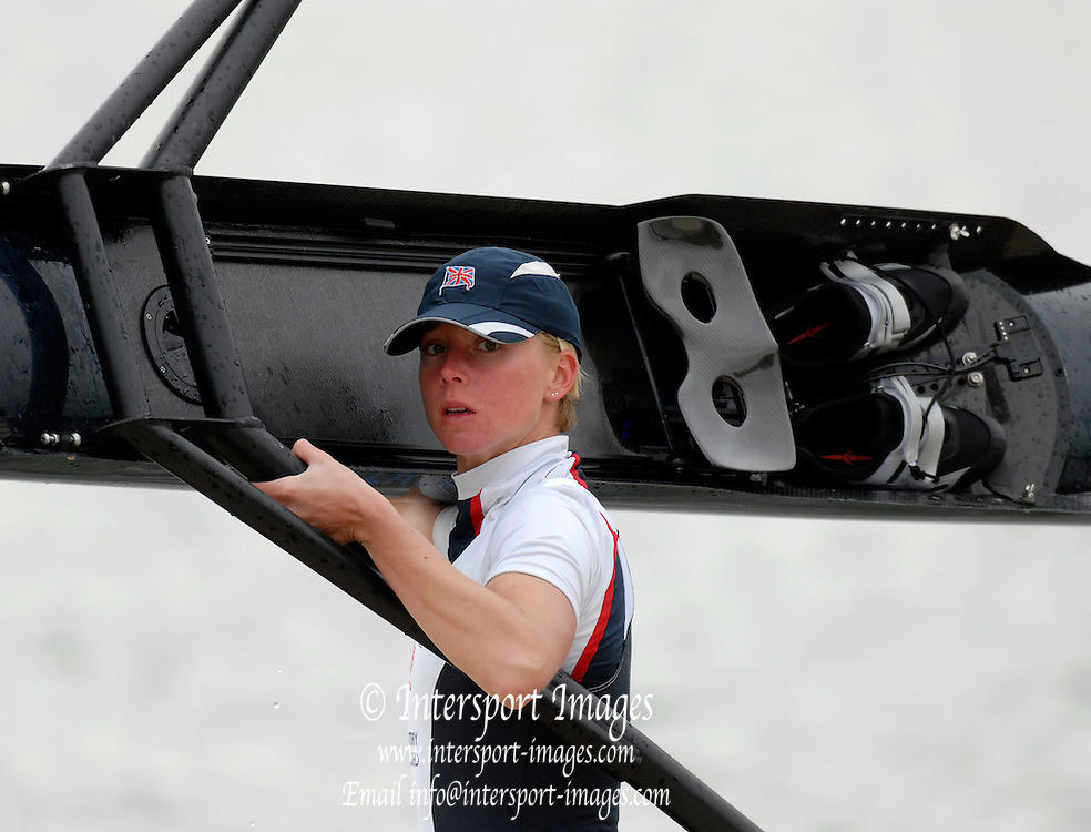 Caversham, Great Britain, Andrea DENNIS, GB Rowing media day at the Redgrave Pinsent Rowing Lake. GB Rowing Training centre. Tue. 29.04.2008  [Mandatory Credit. Peter Spurrier/Intersport Images] Rowing course: GB Rowing Training Complex, Redgrave Pinsent Lake, Caversham, Reading