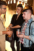 CHARLES TEYSSOU; CLEMENTINE VALLET; CHARLIE LEMANDU, Vogue: Fashion's Night Out: Armani. Bond st.  London. 8 September 2010.  -DO NOT ARCHIVE-© Copyright Photograph by Dafydd Jones. 248 Clapham Rd. London SW9 0PZ. Tel 0207 820 0771. www.dafjones.com.