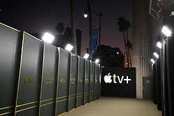 """Apple TV+ AMPAS Samuel Goldwyn Theater on November 11, 2019 in Beverly Hills, California. The company is commissioning """"a considerable amount of content"""" from the UK creative community for the its upcoming video streaming platform. Photo by Lionel Hahn/ABACAPRESS.COM"""
