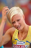 ATHLETICS - TEAM EUROPEAN CHAMPIONSHIPS 2011 - STOCKHOLM (SWE) - 18-19/06/2011 - PHOTO : STEPHANE KEMPINAIRE / DPPI - <br /> 4X100 M RELAY - WOMEN - KAROLINA KLUFT (SWE)