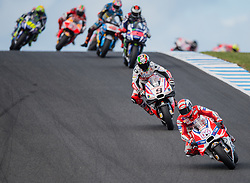 October 23, 2016 - Melbourne, Victoria, Australia - Italian rider Andrea Dovizioso (#4) of Ducati Team leads a pack of riders during the MotoGP category race at the 2016 Australian MotoGP held at Phillip Island, Australia. (Credit Image: © Theo Karanikos via ZUMA Wire)