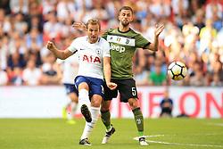 5 August 2017 -  Pre-Season Friendly - Tottenham Hotspur v Juventus - Harry Kane of Tottenham Hotspur in action with Miralem Pjanic of Juventus - Photo: Marc Atkins / Offside.
