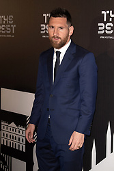 Lionel Messi attends the green carpet prior to The Best FIFA Football Awards 2019 at the Teatro Alla Scala on September 23, 2019 in Milan, Italy. Photo by David Niviere/ABACAPRESS.COM