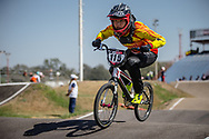 #115 (PENG Na) CHN  at Round 9 of the 2019 UCI BMX Supercross World Cup in Santiago del Estero, Argentina